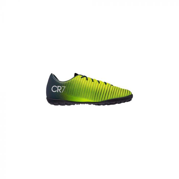 aa32559d Zapatos Fútbol Niño Nike Jr Mercurial Vapor XI CR7 TF Negro Y Amarillo
