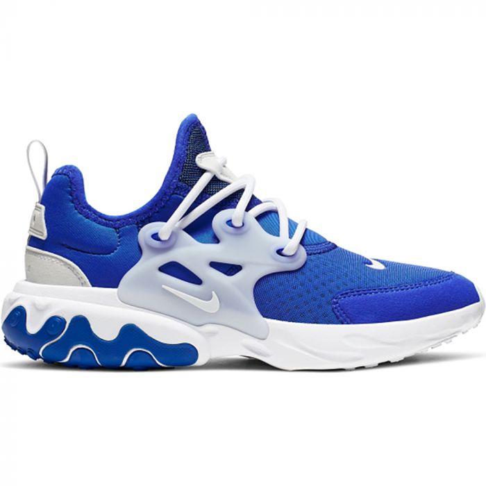 transacción Desgracia Elegancia  Zapatillas Niño React Presto Nike Azul - LinkPromo