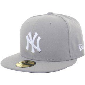 56a6e65cf23d0 Gorra Para Hombres New Era Yankees-Gris