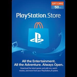 Tarjeta de Regalo de 50$ para PlayStation Store