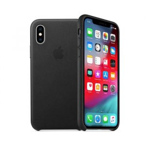 Funda Leather case Apple iphone xs- negra