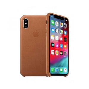 Funda Leather case Apple iphone xs- Chocolate