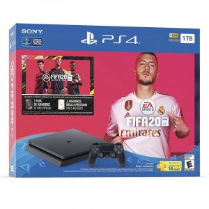 Promo Bundle Sony PS4 1TB FIFA 20 + Dual Shock + cupón 14 días de PS Plus
