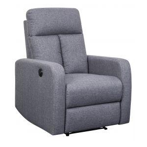 Sofa Reclinable Manual 1Pt Gris Claro Generic 793 0008