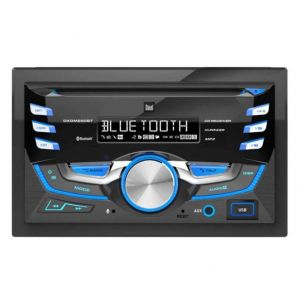 RADIO PARA AUTO DUAL DXDM280BT BLUETOOTH, USB, MP3, AUX, CD - NEGRO