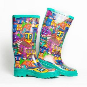 Botas para lluvia Undercover City of colors Women Verde