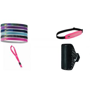 Set Nike Vinchas 6 pcs + Cangurera + Brazalete Running + Porta llave