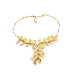 Collar mujer Dorado Micro Hojas Brass Colection Vestopazzo