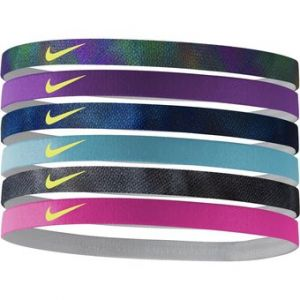 Set 6 Vinchas Nike Printed Headdbands Multicolor