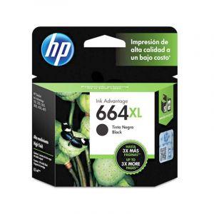 Cartucho De Tinta HP 664Xl Negra Original (F6V31Al)