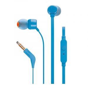 Auriculares JBL T110 Blue In Ear Headphones Onebutton Remote Flat Cable