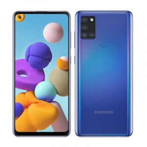 Samsung Galaxy A21S | Android 10 | Octa Core | 4Gb Ram | 64Gb | Cuadruple Cámara | Batería 5,000 Mah | Azul