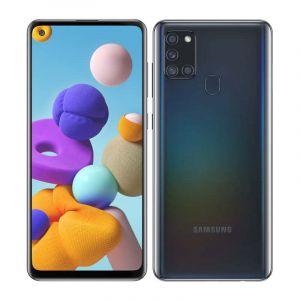 Samsung Galaxy A21S   Android 10   Octa Core   4Gb Ram   64Gb   Cuadrúple Cámara   Batería 5,000 Mah   Negro
