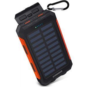 Batería Externa / Portatil Solar HyperGear 10000mAh - Negro