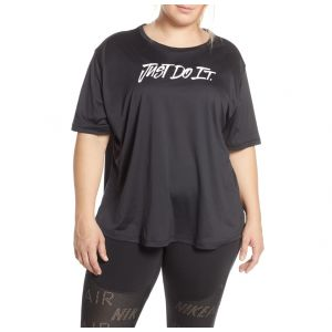 Camiseta tranning nike mujer plus negro