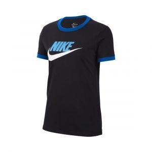 Camiseta Mujer Futura Ringer Nike Negro