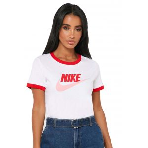 Camiseta Mujer Sportswear Ringer Nike Blanco