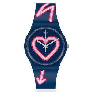 Reloj Analógico Swatch Flash Of Love Mujer Azul