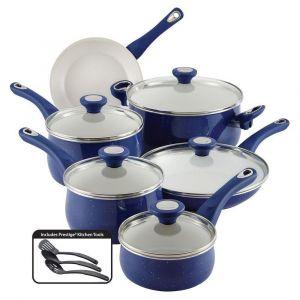 Set de Ollas + Sartenes + Utensilios + 12 Pieza + Azul