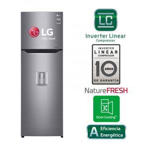 LG  Refrigeradora de 2 puertas  11p3  inverter  Dispensador de agua  Luz led.