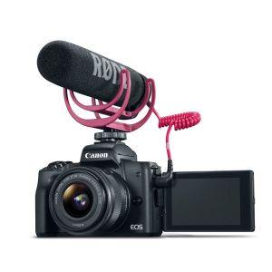 Cámara Réflex Canon M50 EF M 24.1 MP con Lente 15 45mm con Video Creator Kit Negro