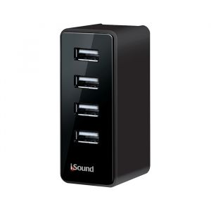 Isound Cargador De Pared De 4 Usb S 4 Amp