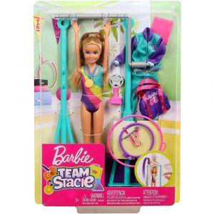 Barbie Muñeca Stacie Equipo de Gimnasta con Barra Giratoria y Accesorios