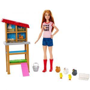Barbie Cuidadora de Granja de Pollos