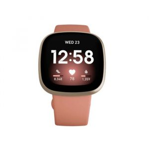 Fitbit Versa 3 GPS Smartwatch (Pink Clay / Soft Gold Aluminum)