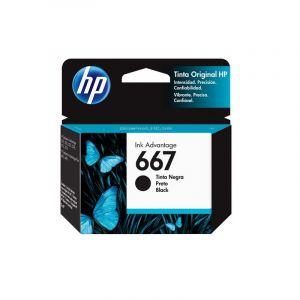 Cartucho de tinta HP 667 negra Original (3YM79AL)