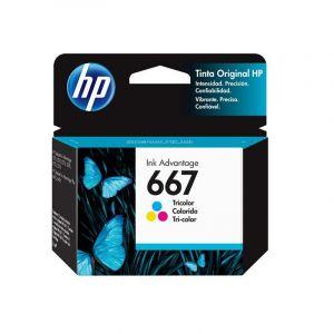 Cartucho de tinta HP 667 tricolor Original (3YM78AL)