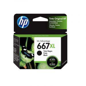 Cartucho de tinta HP 667XL negra Original (3YM81AL)