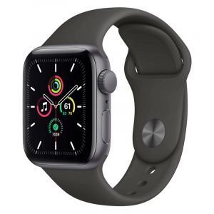 Apple Watch Se Gps  40Mm   Aluminum Case With Black Sport Band   Space Gray