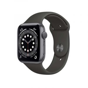 Apple Watch | S6 Gps | 44Mm |   Aluminum Case With Black Sport Band | Gris