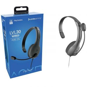 Pdp Audifono | Acc Lvl 30 Chat | Ps4 Mic Con Cancela Ruido Mute Con Flip | Gris
