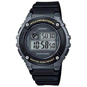 Reloj Digital Hombre Casio W 216H 1B  Negro