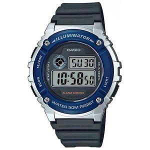 Reloj Digital Hombre Casio W 216H 2A  Negro con Azul