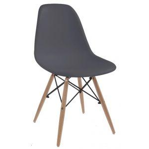 Silla Negra + Gris Con Patas de Madera Soho Furniture P1787 0012