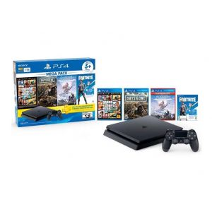 Bundle PS4 Slim Sony 1TB + GTA V + Days Gone + Horizone Complete Edition + 3Meses De PS Plus