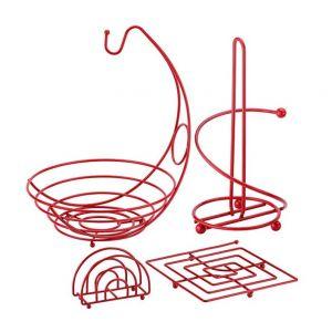 Ragalta Set 4 pcs Organizador de Cocina Rojo