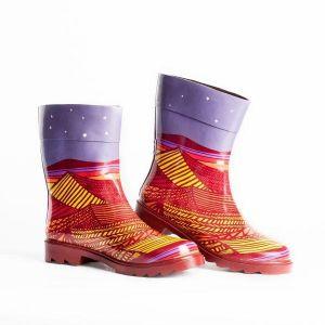 Botas para lluvia Undercover Starry Desert Women Morado