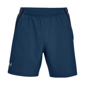 Short Deportivo Hombre Under Armour Launch S7in Azul con Negro